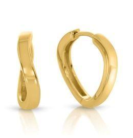 Gold Creolen gewellt hochwertig vergoldet