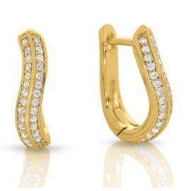 vergoldete Damen Ohrringe mit Zirkonia