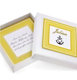 Geschenkschachtel mit eigenem Text Spruch Vers besonder Schmuck Box