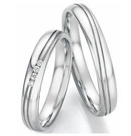 Trauringe Edelstahl Diamanten Verlobungsringe schlicht