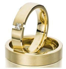 Trauringe Gelbgold Diamant