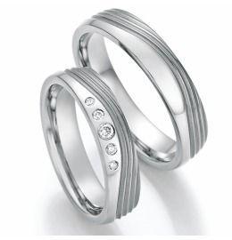 Titanium Eheringe, Partnerringe edles Design & Diamanten
