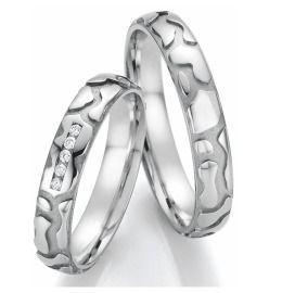 Romantische Trauringe Palladium Diamanten