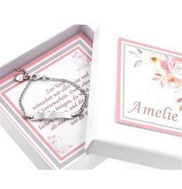 Taufarmband mit Geschenkschachtel ID Armband Gravur
