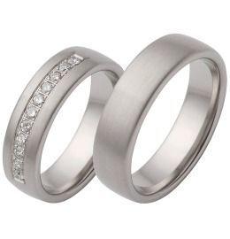 Trauringe Weißgold Verlobung Brillanten