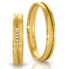 schmale Goldringe klassische Eheringe poliert