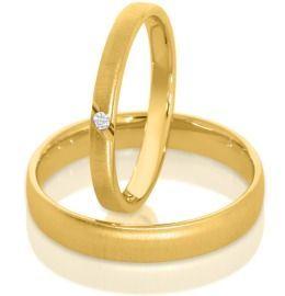 schlichte Eheringe Goldringe Trauringe Damen Herren
