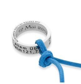 Anhänger Ring Gravur, Baumwollkette Kinderschmuck