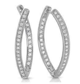Silber Crelonen glänzend elegant mit Zirkonia 925 Silber