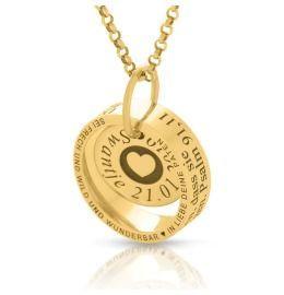 Taufring Gravur vergoldet Kette Ring Namensschmuck