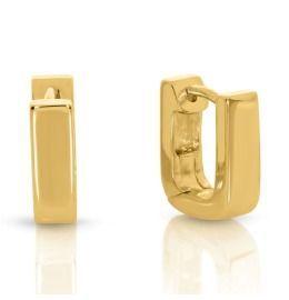 eckige Creolen Paar ca. 12mm hochwertig vergoldet