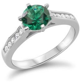 Damenring Silber grün